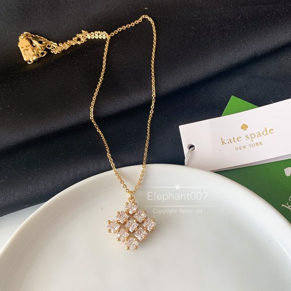 Kate Spade necklace gold crystal necklace